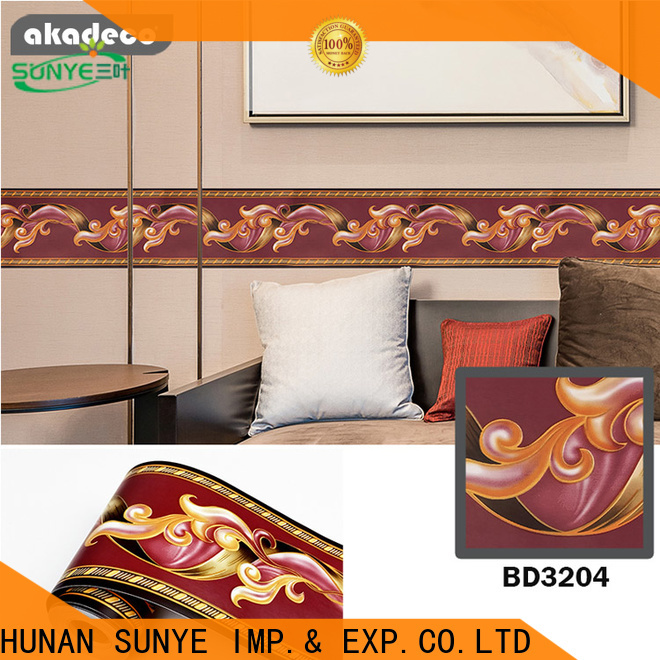 SUNYE self adhesive wall border factory direct supply for home