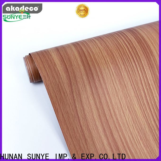 SUNYE durable wood grain vinyl wrap factory bulk production