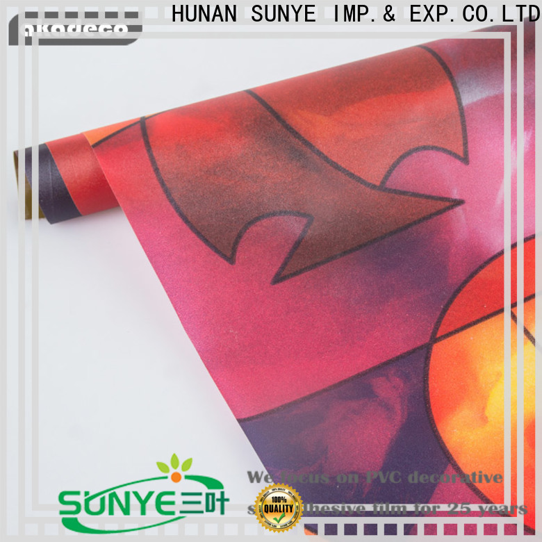 SUNYE best adhesive film for windows supplier for dining room