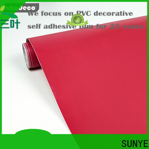 SUNYE self adhesive film directly sale for production area