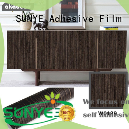 SUNYE wood grain contact paper company bulk production
