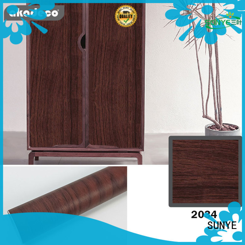 SUNYE wood grain paper roll supplier for electrical room