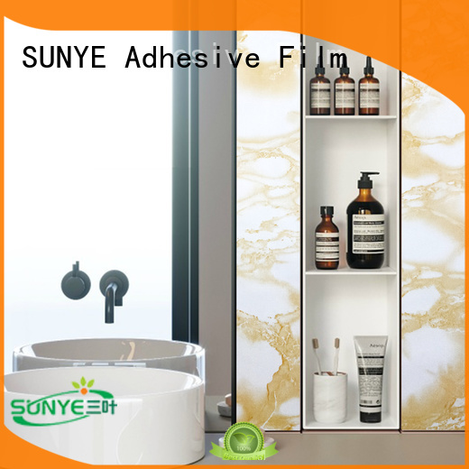 SUNYE marble adhesive foil best manufacturer for switch room