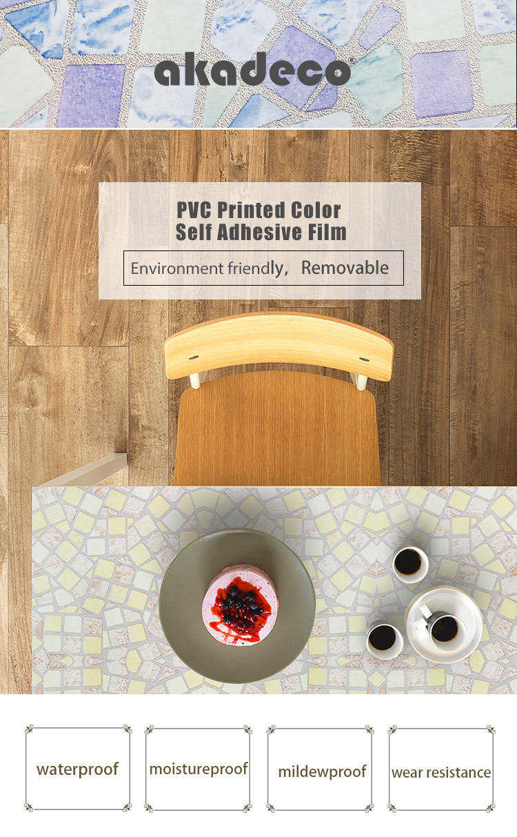 SUNYE PVC PRINTED SERIES ADHESIVE FILM manufacturer for living room-2