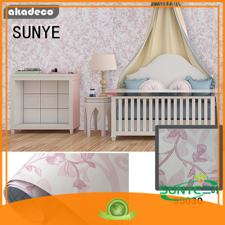 SUNYE pvc wall papers best supplier for market