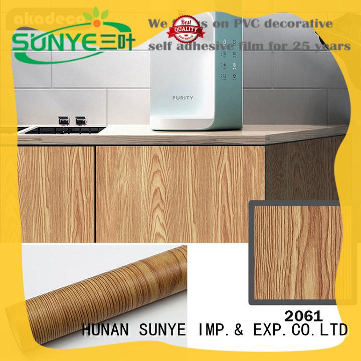 SUNYE wood grain adhesive film directly sale bulk production