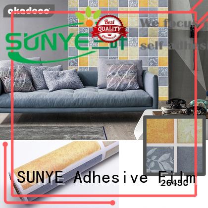 SUNYE PVC PRINTED SERIES ADHESIVE FILM manufacturer for living room